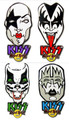 KISS Hard Rock Cafe Pin MASK Set 2004