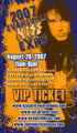 2007 Evansville KISS Expo VIP Ticket