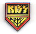 KISS Army Metal Logo Pin