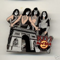KISS Hard Rock Cafe Pin Group PARIS ARC