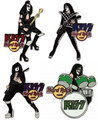 KISS Hard Rock Cafe Pin Group Set RUSE 2006