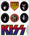 KISS Clear Back Sticker Set