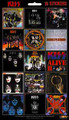 KISS 15 Album Sticker Set