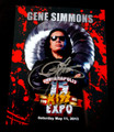 Gene Simmons Signed Blood 2013 Indianapolis Expo Photo