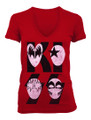 Red Cartoon Mask Logo Juniors Tshirt
