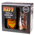 KISS Destroyer Travel & KISS Army Ceramic Mug 2-pack Gift Box