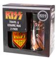 KISS Destroyer Travel & KISS Army Ceramic Mug 2-pack Gift Box