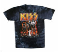 HOTTER THAN HELL Farewell KISS TIE-DYE T-SHIRT