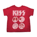 KISS Red Sketch Toddler Tshirt