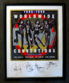 KISS 95-96 Convention Hand Signed Framed Lithograph
