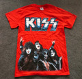 Red 76 Metal Logo Group Photo Tshirt