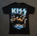 KISS The Tour Metallic Blue Logo Tshirt