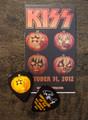 103112 KISS Kruise II Pumpkin Paul Stanley Guitar Pick