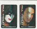 Paul Stanley Face the Music Indianapolis KISS Expo Platinum Pass