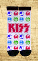 KISS White Icons Socks