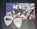 KISS The Tour Paul Stanley Black Logo Guitar Pick
