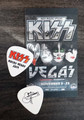 KISS Rocks Las Vegas Flames Guitar Pick Gene Simmons Guitar Pick