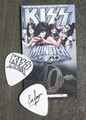 KISS Monster Europe Common Black Logo Guitar Pick Eric Singer