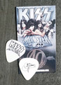 KISS Monster Europe Common Black Logo Guitar Pick Gene Simmons
