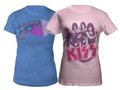 Pink Band Babydoll Tshirt & KISS Love Gun Junior Tshirt Combo!