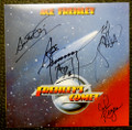 Frehleys Comet Cover with Blue White Marble LP Signed by Ace Frehley, Anton Fig, John Regan and Tod Howarth