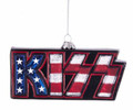 KISS USA Flag Glass Ornament