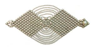 Sergio Gutierrez Liquid Metal by Sg Silver Mesh Wide Cuff Bracelet B78