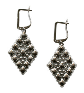 Sergio Gutierrez Liquid Metal by SG Silver Mesh Earrings E37 (E37SGC)