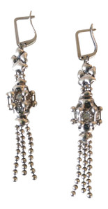Swarovski Crystal Ball Silver Mesh Earrings, Style RTE5