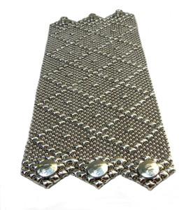 Silver Wide Mesh Cuff Bracelet B11