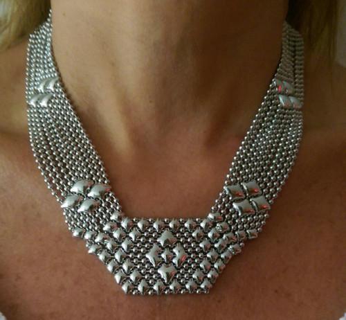 SG Liquid Metal Mesh Necklace, style N5