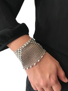 SG Liquid Metal Silver Chainmail Bracelet CMB6Z by Sergio Gutierrez