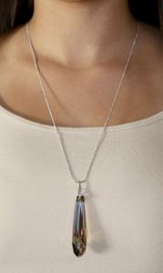 Bronze Swarovski Crystal Chain Pendant Stala Necklace Oliver Weber 11510