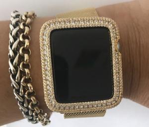 EMJ Series 2,3 Apple Watch Yellow Gold Zirconia Bezel Face Insert 38/ 42 mm