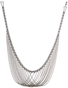 Liquid Metal Chaines Silver Necklace by Sergio Gutierrez N15