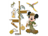 Jolees 312392 Disney Vacation Dimensional Sticker-Jungle Mickey