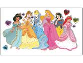 Jolees 364787 Disney Princess Le Grande Jewel Dimensional Sticker-Multiple Princesses