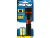 "Rayovac General Purpose Flashlight - 2 ""AA"" Batteries - 15 Lumens"