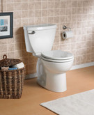 Cadet 3 Two Piece 1.59 Gal. Round Bowl Toilet with Front 6L complete in white