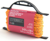 5/32 Inch  x 50 Feet  POLYPROPYLENE DIAMOND BRAID REFLECTIVE ORANGE