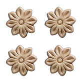 Embossed Small Tudor Rose 1-1/2 X 1-1/2 - 4 Pc Per Card
