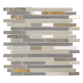 11.875 Inch x 12.625 Inch x 6mm Hidden Hills Glass/Stone Mosaic Tile