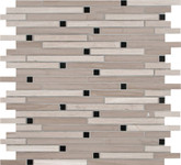 White Oak Interlocking 12 Inch.  X 12 Inch.  X 10 Mm Honed Marble Mesh-Mounted Mosaic Tile (10 Sq. Feet.  / Case)