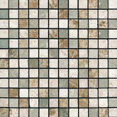 1 In.x1 In. Emperador Verde Polished / Tumbled Mosaics