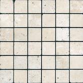 2 In. x 2 In. Tumbled Chiaro Travertine Mosaics