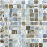 1 Inchx1 Inch Smoked Oyster Glass Mosaics