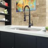 Matte Black Pull-Down Spray Kitchen Faucet