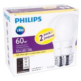CFL 14W = 60W A-line Silicone Fan Soft White Small Base (2700K) - Case of 12 Bulbs
