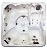 Orlando Silver Marble 6 Person Lounger Spa with 45 Stainless Steel Jets, 4 HP Pump, LED Light and IPOD Stereo System