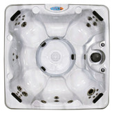 Sundial Beach Silver Marble 8 Person Non-Lounger Spa with 45 Stainless Steel Jets, 4 HP Pump, LED Light and IPOD Stereo System